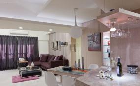 现代精致时尚三居室装修效果图